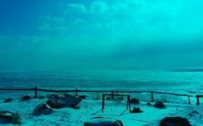 Picture the sun, nature, Baikal, ice, winter