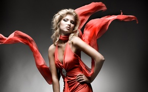 Picture red, fashion, dress
