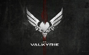 Picture wallpaper, sake, blood, logo, game, wings, fear, bones, EVE, scar, official wallpaper, eye patch, Valkyrie, …