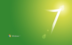 Picture style, green, style, windows seven 7, computers
