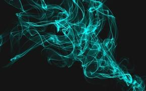 Wallpaper Smoke, Abstraction, Blue