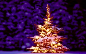 Picture tree, spruce, Christmas, New year, golden, Tree, New Year, fireworks, Christmas tree, Happy, 2015, the …