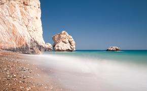 Wallpaper sea, rocks, beach, stones