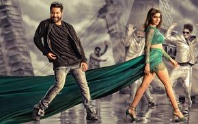 Picture music, cinema, wallpaper, girl, dress, woman, man, movie, dance, film, thigh, Bollywood, official wallpaper, Telugu, …