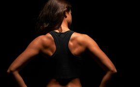 Picture women, fitness, back muscles