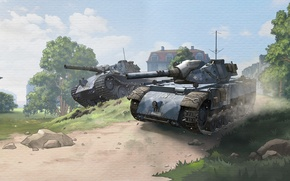 Wallpaper Tanks, WoT, World of Tanks, World Of Tanks, Wargaming Net, World of Tanks: Blitz