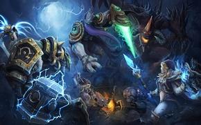 Picture girl, magic, hammer, the demon, warrior, starcraft, battle, Lich King, Warcraft, Blizzard, diablo, Orc, Arthas, …