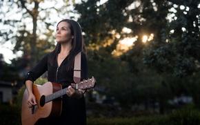Wallpaper music, guitar, Tricia Anne