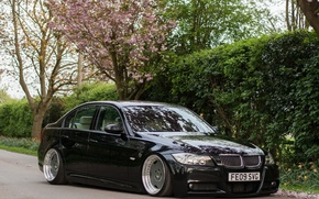 Picture bmw, turbo, black, tuning, power, germany, low, e90, stance