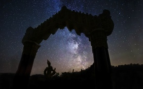 Picture space, stars, space, arch, the milky way