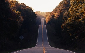 Picture road, autumn, forest, asphalt, highway, forest, Valley, road, autumn