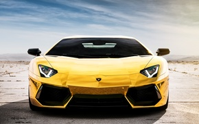 Picture reflection, Lamborghini, Lamborghini, Lamborghini, LP700-4, Aventador, Aventador, LB834, Golden chrome, Project AU79, Chrome gold