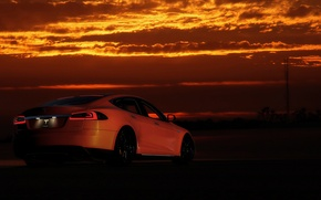 Picture sunset, view, Tesla