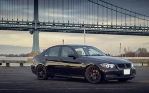 Picture black, BMW, BMW, black, 328i, E90, The 3 series