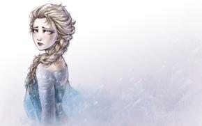 Picture cold, winter, girl, sad