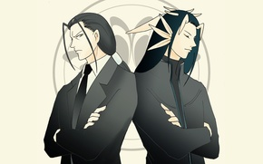 Picture anime, art, two, men