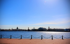 Picture the sun, Saint Petersburg, Saint-Petersburg, Neva, Nevskaya panorama