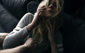 Picture girl, hand, piercing, tattoo, resistance, Laura