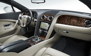 Wallpaper beauty, dashboard, continental, Bentley, torpedo, Dzhi-ti, continental, salon, bentley, machine, auto
