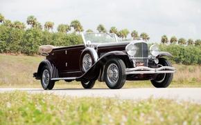 Picture retro, car, retro, model, luxury, Convertible, Duesenberg, LWB, 1934, LeBaron, Berline