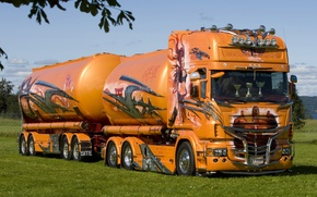 Picture truck, cars, trucks, scania