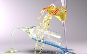 Wallpaper liquid, Glass
