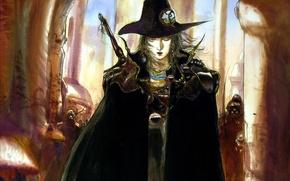 Picture figure, hat, evil, werewolves, black cloak, Di vampire hunter, shoulders, Vampire hunter D, by Amano …