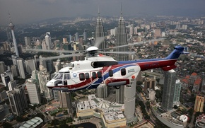 Picture passenger, (MHS), EC225, the city, flight, transport, Eurocopter, helicopter