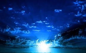 Picture sea, the sky, light