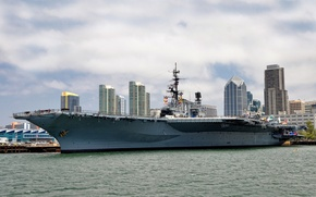 Wallpaper San Diego, California, San Diego, USS Midway, Museum, the carrier, CA, San Diego Bay, Maritime ...