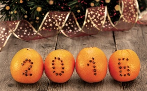 Picture oranges, New year, New Year, decoration, Happy, 2016