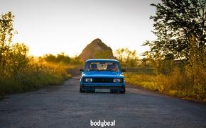 Picture blue, blue, 2104, Soviet machine, bodybeat