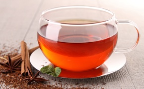 Picture tea, Cup, cinnamon, saucer, star anise, Anis