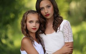 Picture children, girls, portrait, sisters