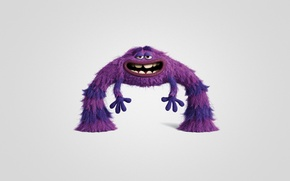 Picture monster, minimalism, light background, Monsters University, Inc., Monsters Inc., Monsters University, Monsters