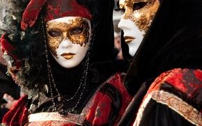 Picture city, man, Venice, mask, carnival, holuday