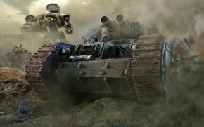 Wallpaper guard, Imperial, Imperial, Titan, Leman Russ, windshield, guns, trunks, warhammer 40k, smoke, armor, tank