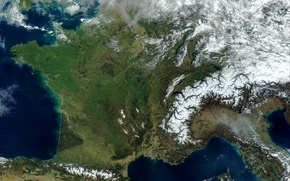 Picture photo, France, Earth, Europe, NASA