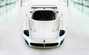 Picture white, supercar, Maserati, Maserati MC12