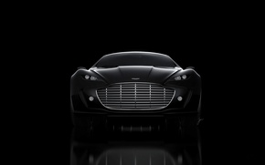 Picture Aston Martin, Black, Machine, The concept, Grille, Gauntlet, The front
