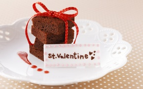 Wallpaper yummy, Valentine's day, cake