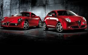 Picture red, auto, mixed, Alfa romeo