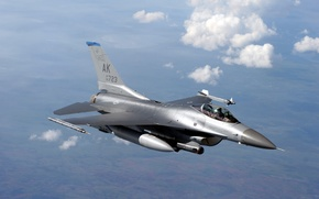 Picture aviation, Wallpaper, fighter, f16, USA