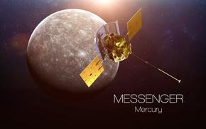 Wallpaper satellite, mercury, messenger