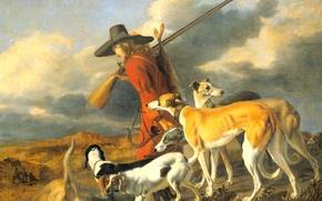 Picture dogs, picture, Hunter, genre, Adriaen Cornelisz Beeldemaker