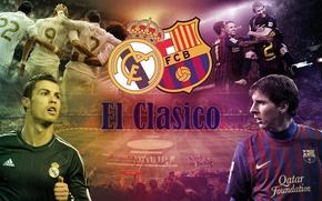 Picture real madrid, football, ronaldo, lionel messi, messi, barcelona, c.ronaldo, the classic