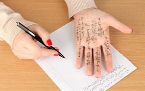 Wallpaper cheating, copying, mathematics, machete's