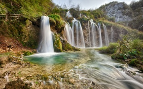 Picture nature, river, waterfall, Plitvice National Park