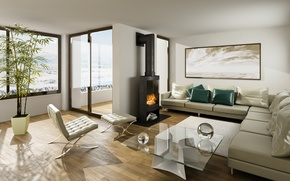 Picture design, table, fireplace, apartment, Design, Interior, interior, table, fireplace, apartment, stylish room, stylish room