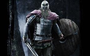 Picture sword, knife, helmet, dagger, beard, axe, shield, blade, Viking, horn, North, shell, Thor's Hammer, charms